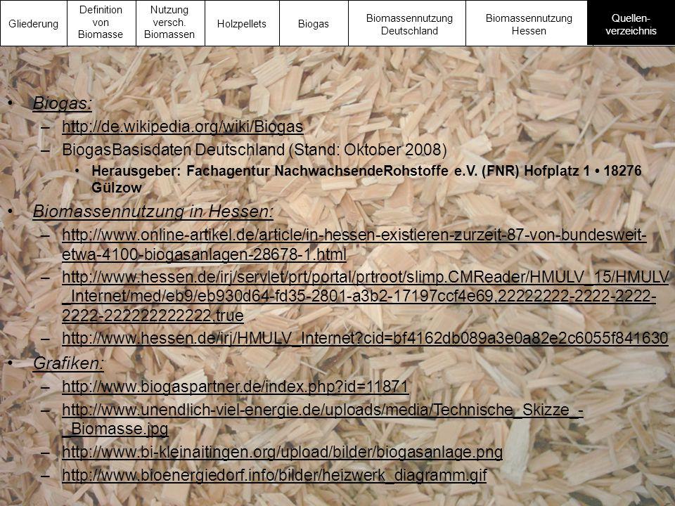 Biomassennutzung in Hessen: