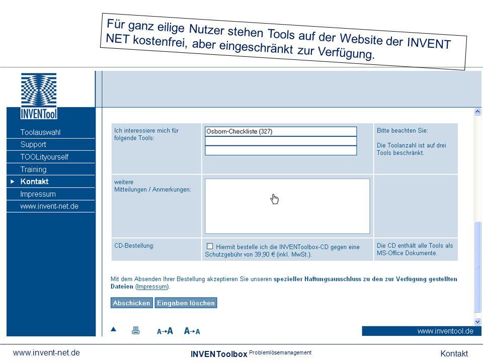 Für ganz eilige Nutzer stehen Tools auf der Website der INVENT NET kostenfrei, aber eingeschränkt zur Verfügung.