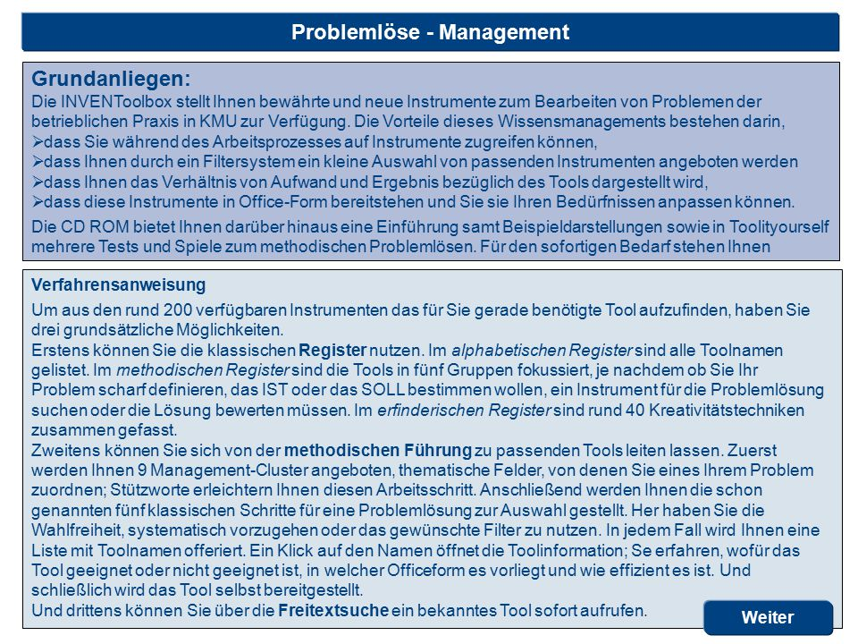 Problemlöse - Management
