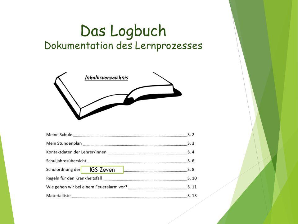Das Logbuch Dokumentation des Lernprozesses