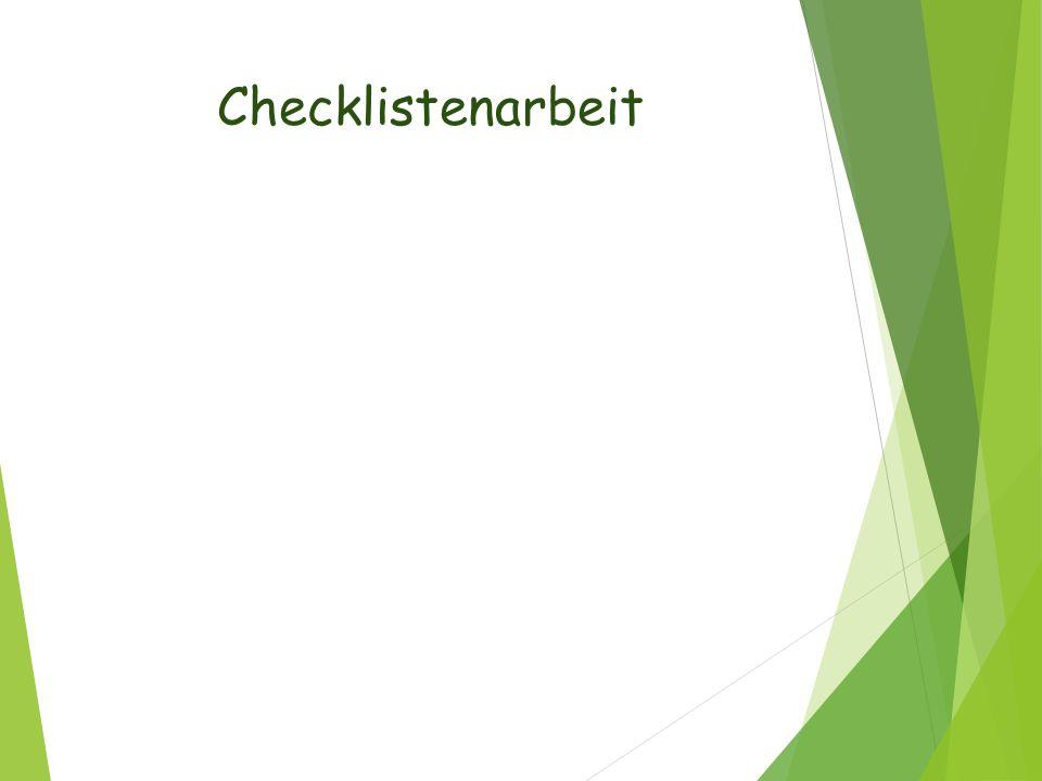 Checklistenarbeit