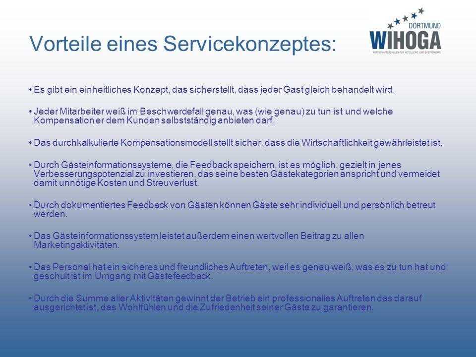 Vorteile eines Servicekonzeptes: