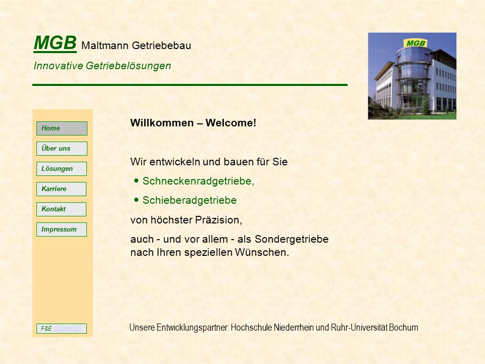 MGB Maltmann Getriebebau Innovative Getriebelösungen