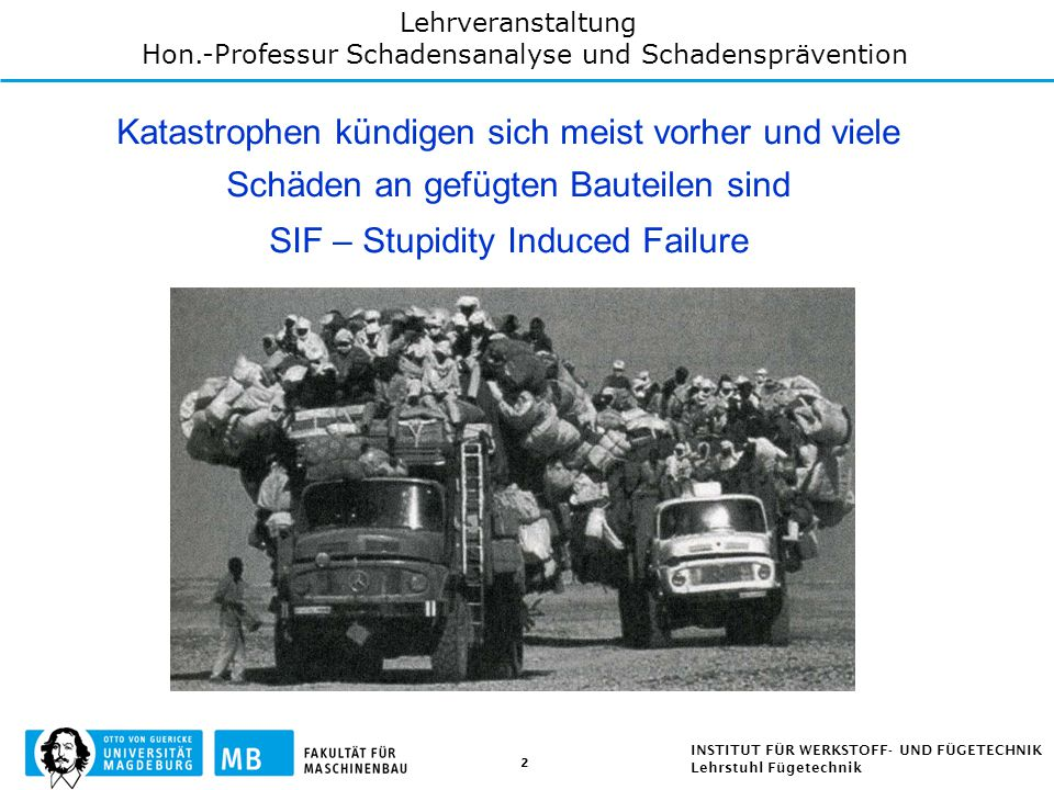 SIF – Stupidity Induced Failure