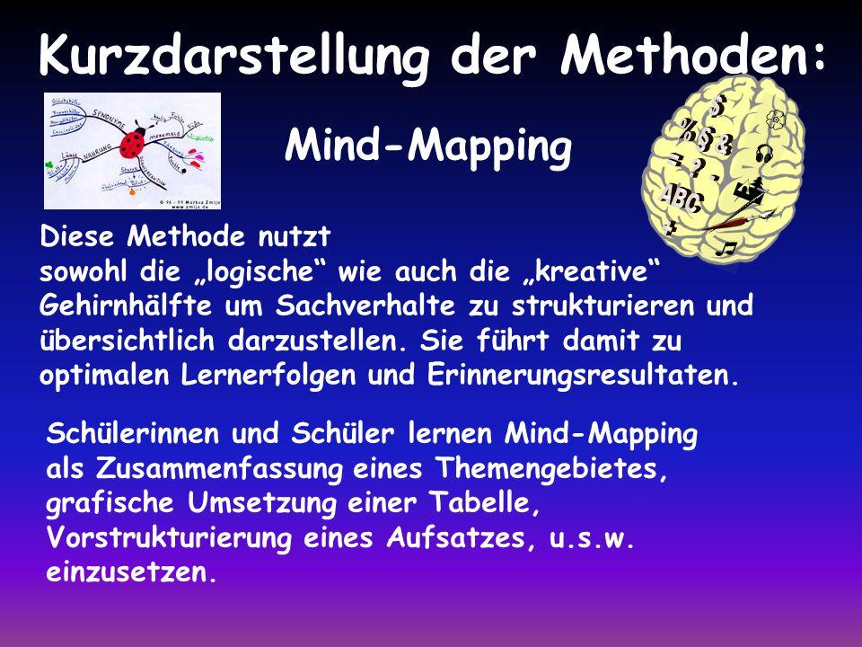 Kurzdarstellung der Methoden: