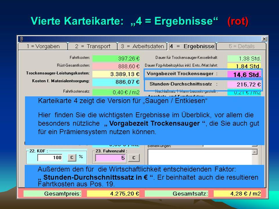 """Vierte Karteikarte: """"4 = Ergebnisse (rot)"""