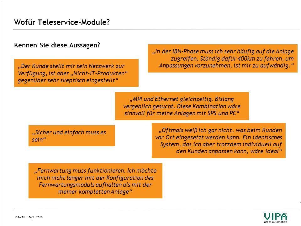Wofür Teleservice-Module