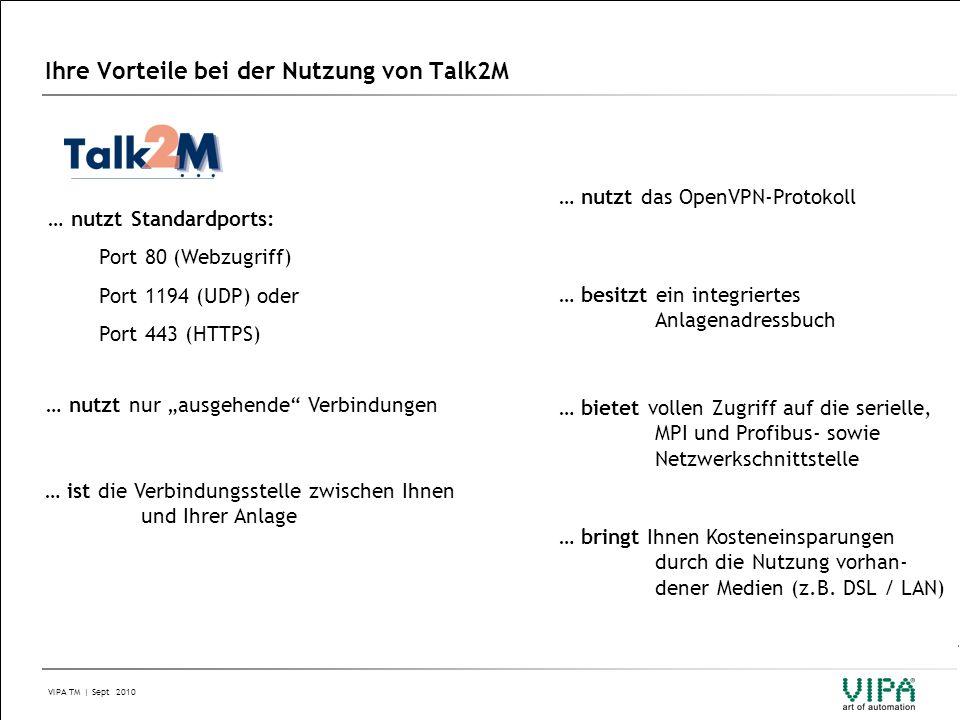 Ihre Vorteile bei der Nutzung von Talk2M
