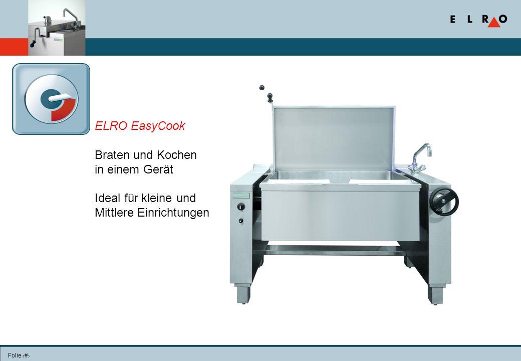 ELRO EasyCook Braten und Kochen in einem Gerät Ideal für kleine und Mittlere Einrichtungen