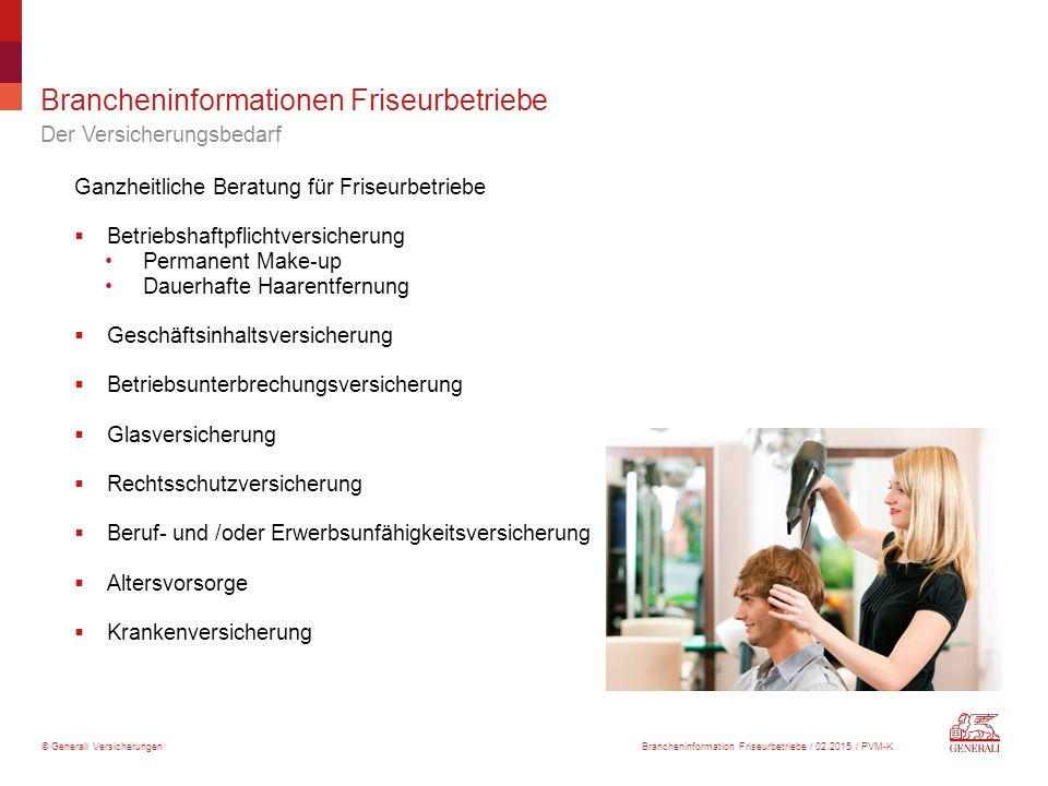 Brancheninformationen Friseurbetriebe