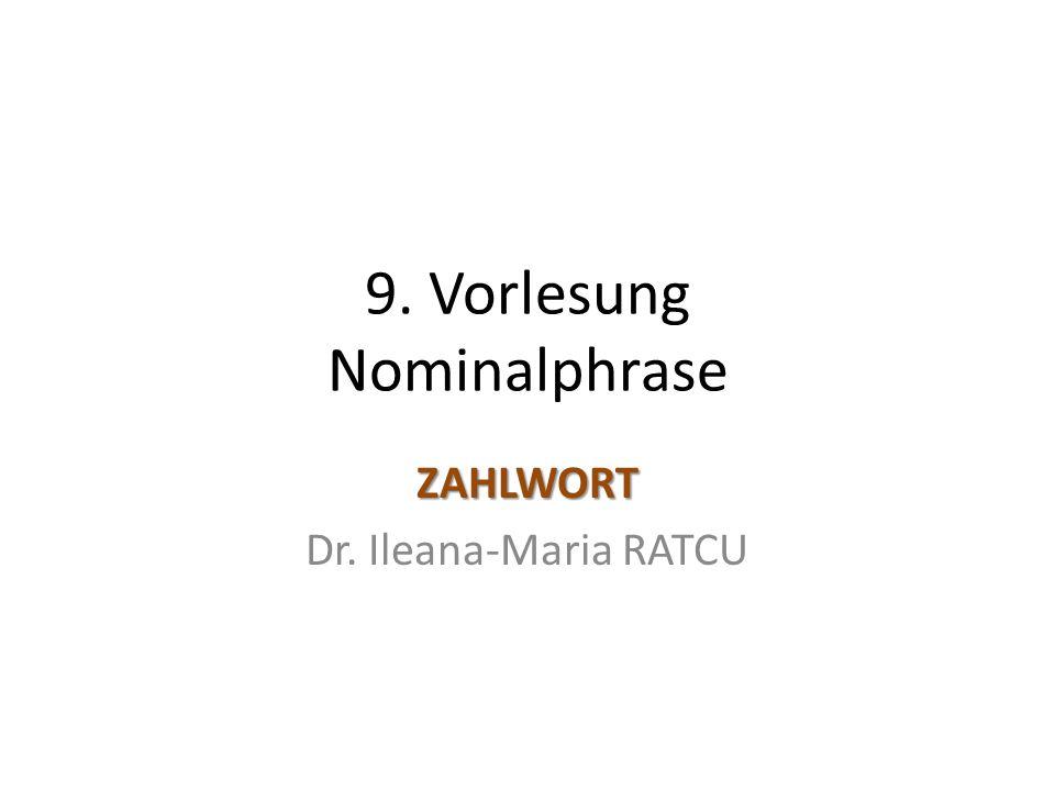 9. Vorlesung Nominalphrase