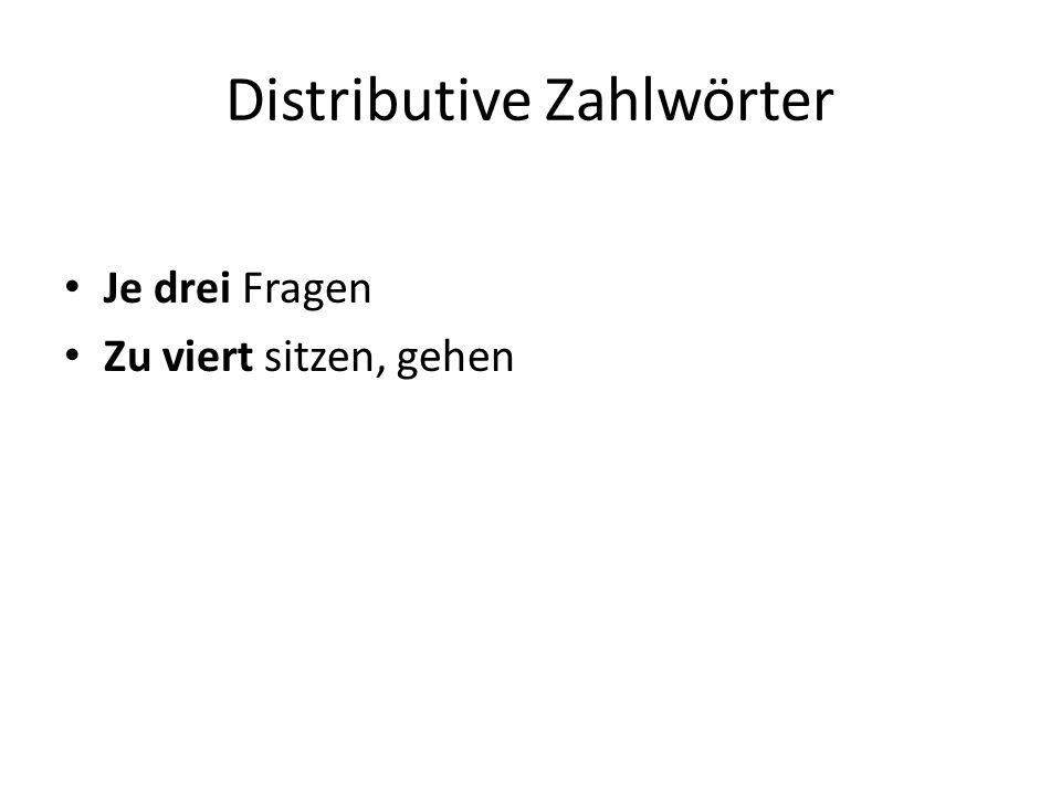 Distributive Zahlwörter