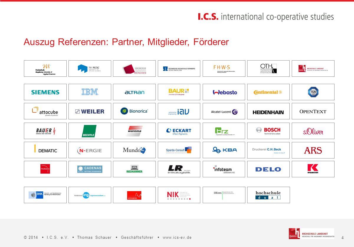 Auszug Referenzen: Partner, Mitglieder, Förderer