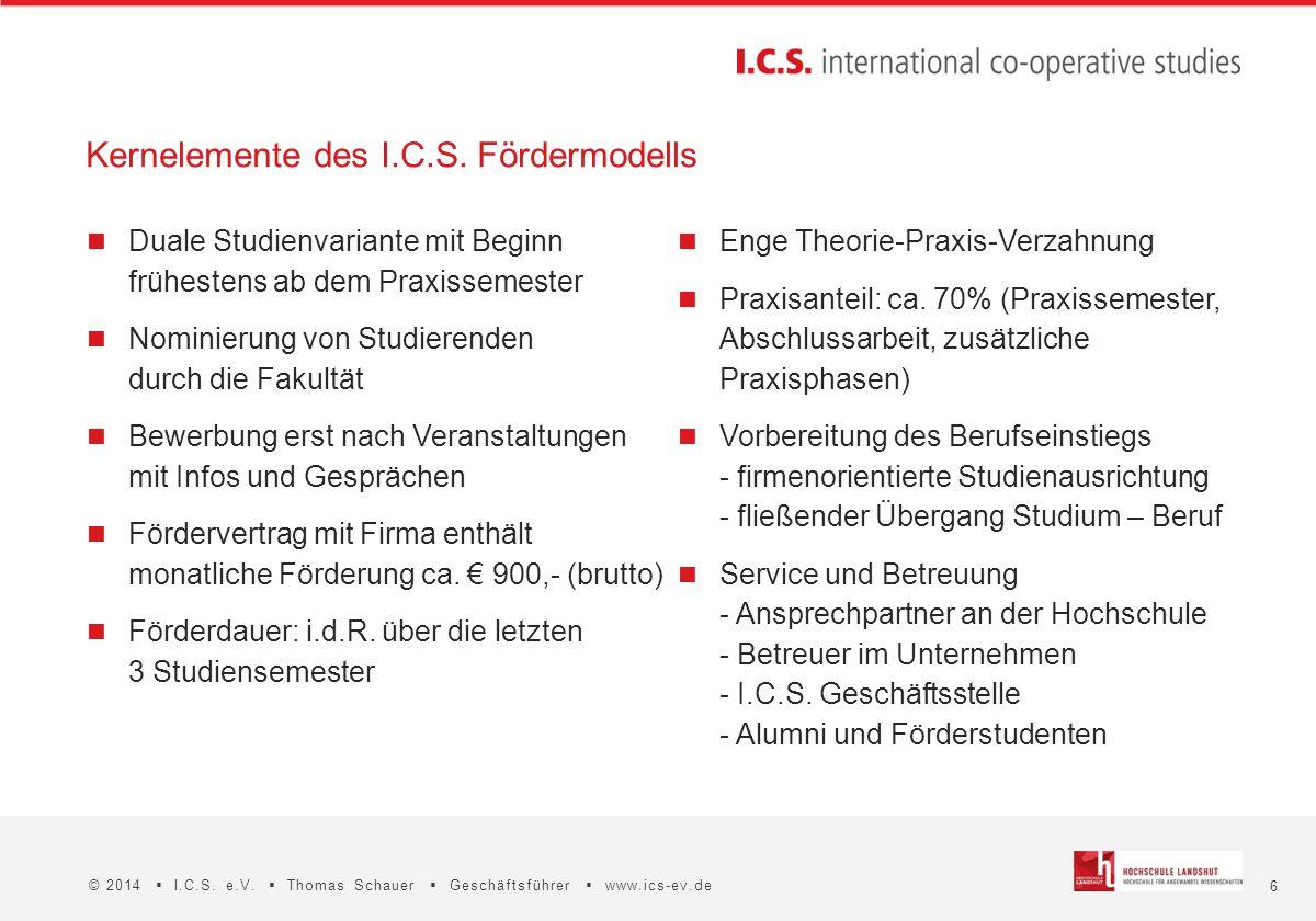Kernelemente des I.C.S. Fördermodells