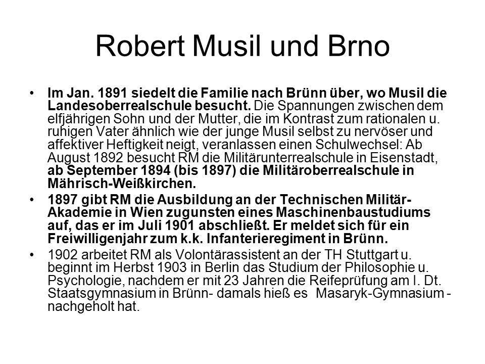 Robert Musil und Brno