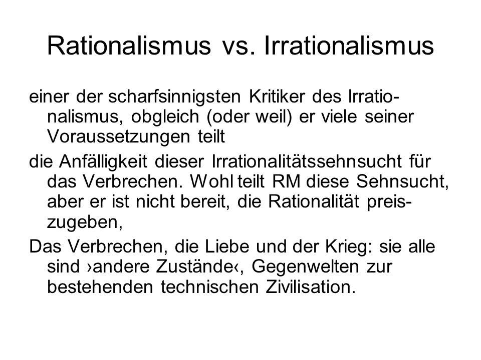 Rationalismus vs. Irrationalismus