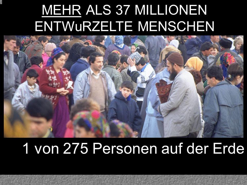 MEHR ALS 37 MILLIONEN ENTWuRZELTE MENSCHEN