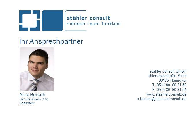 Ihr Ansprechpartner Alex Bersch stähler consult GmbH