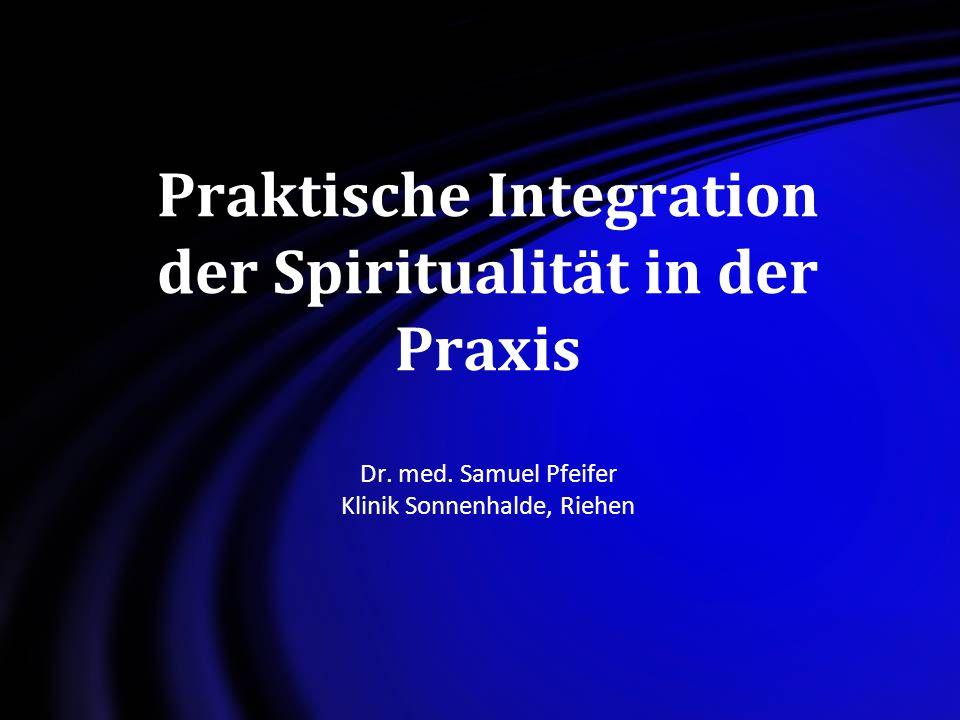 Praktische Integration der Spiritualität in der Praxis