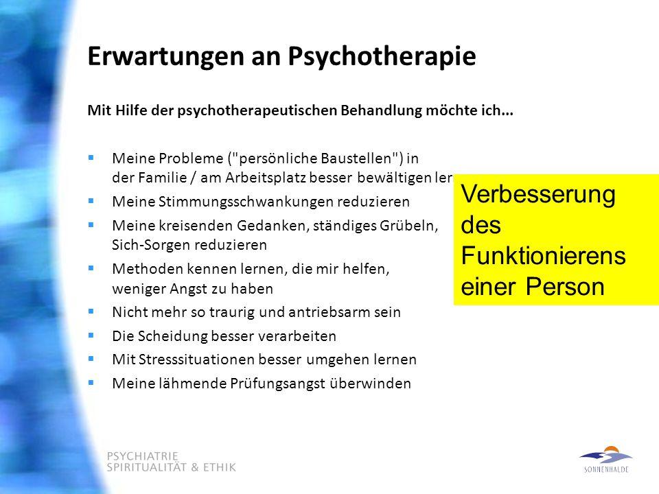 Erwartungen an Psychotherapie