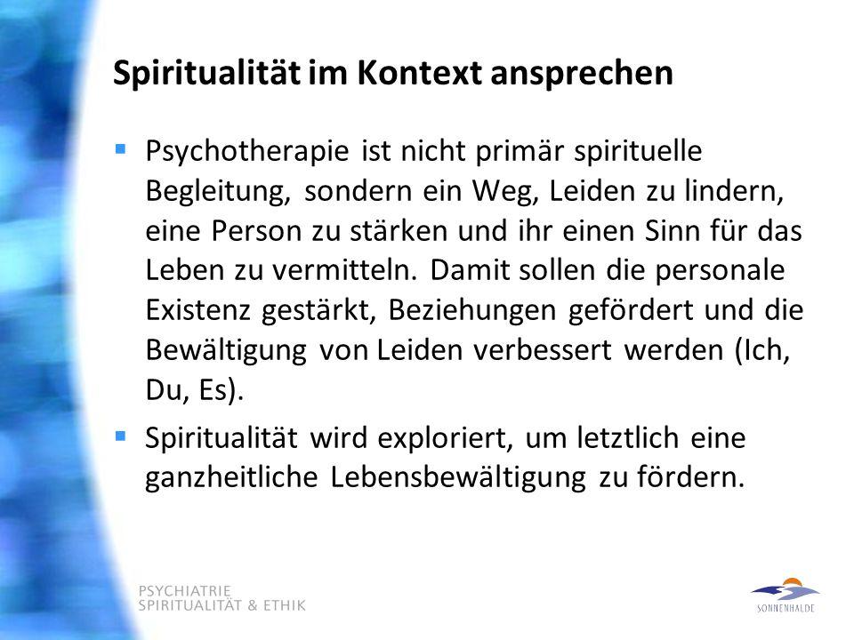 Spiritualität im Kontext ansprechen