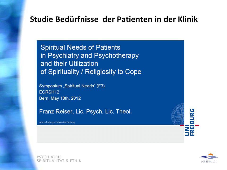 Studie Bedürfnisse der Patienten in der Klinik
