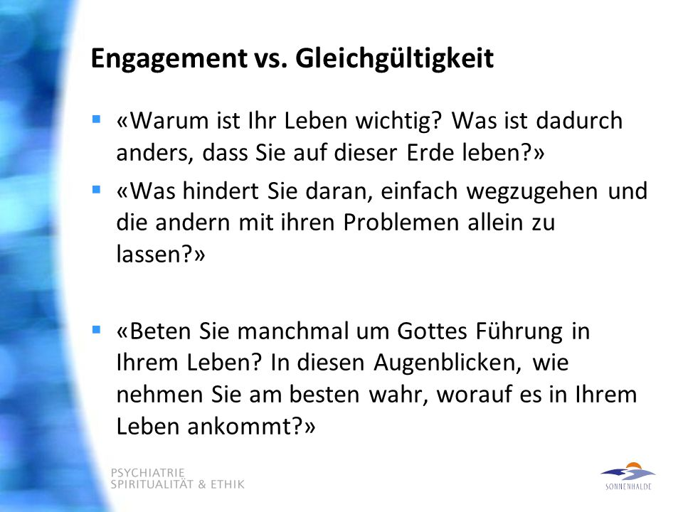 Engagement vs. Gleichgültigkeit