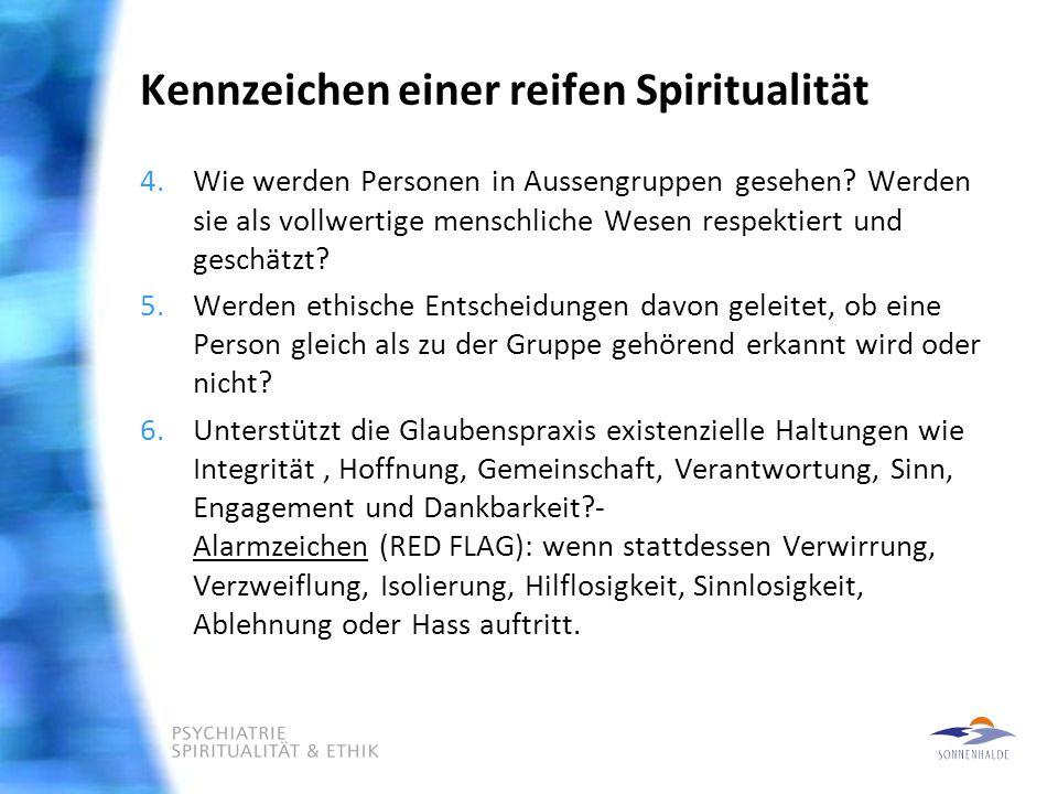 Kennzeichen einer reifen Spiritualität