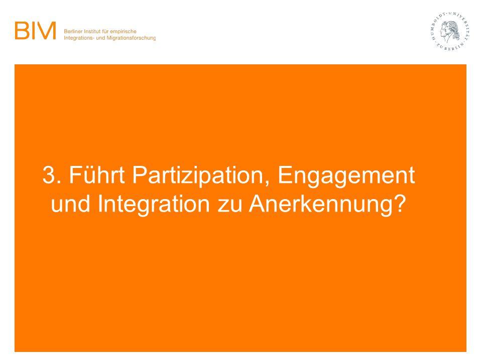 3. Führt Partizipation, Engagement und Integration zu Anerkennung