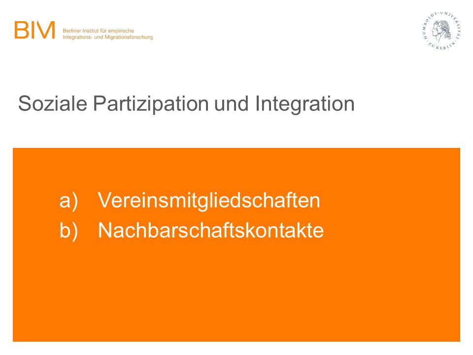 Soziale Partizipation und Integration