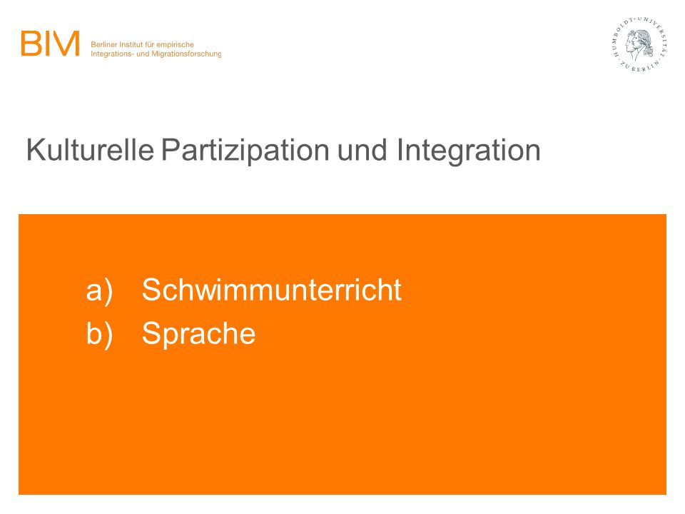 Kulturelle Partizipation und Integration