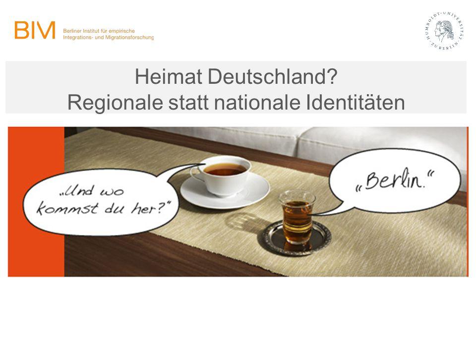Heimat Deutschland Regionale statt nationale Identitäten