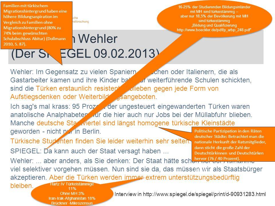 Hans-Ulrich Wehler (Der SPIEGEL 09.02.2013)