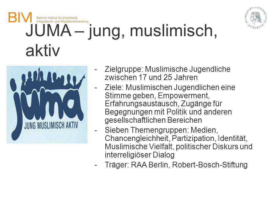 JUMA – jung, muslimisch, aktiv
