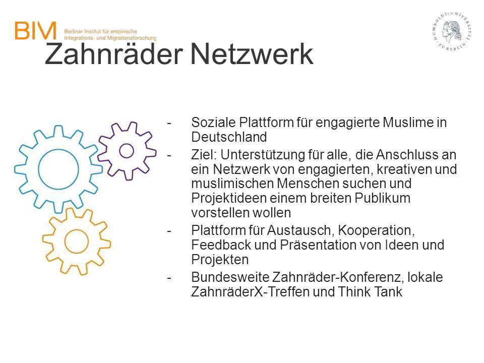 Zahnräder Netzwerk Soziale Plattform für engagierte Muslime in Deutschland.