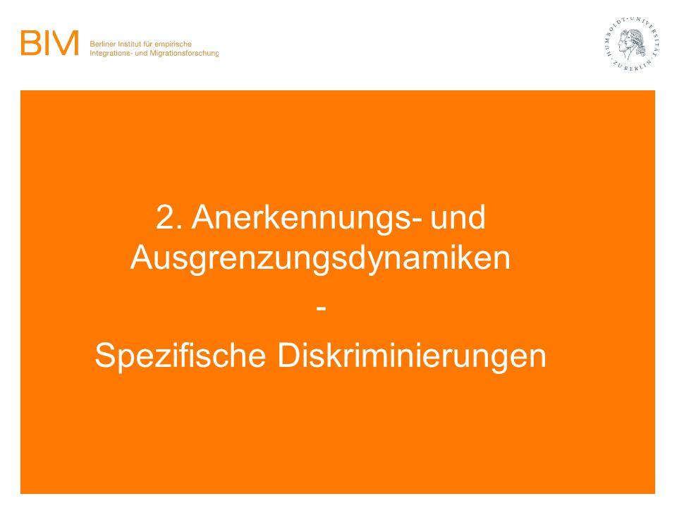 2. Anerkennungs- und Ausgrenzungsdynamiken -