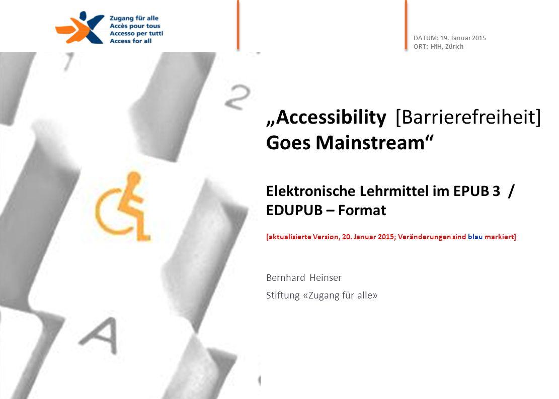 Bernhard Heinser Stiftung «Zugang für alle»