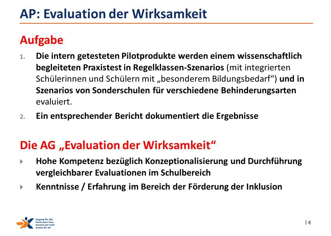 AP: Evaluation der Wirksamkeit