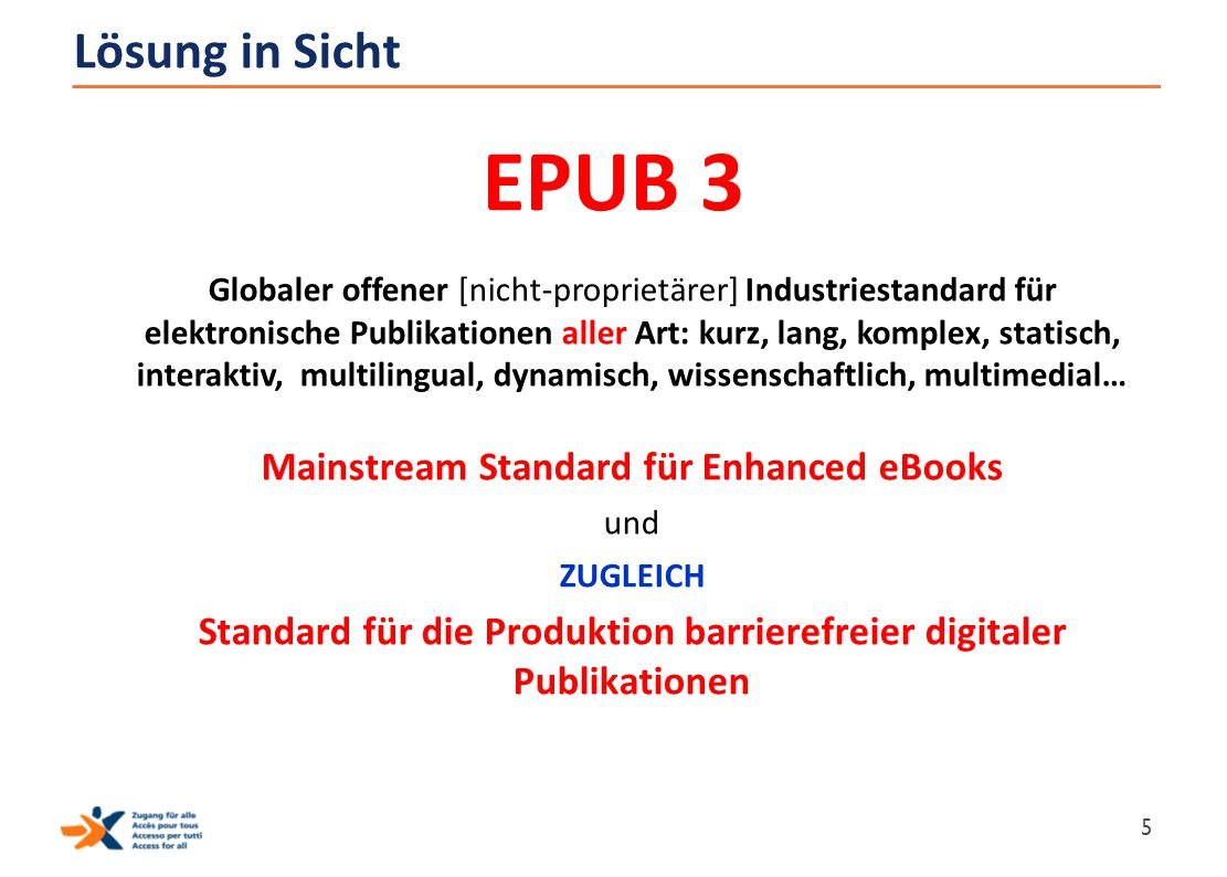EPUB 3 Lösung in Sicht Mainstream Standard für Enhanced eBooks