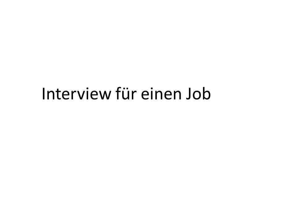 Interview für einen Job