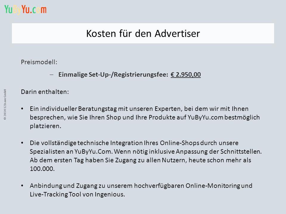 Kosten für den Advertiser