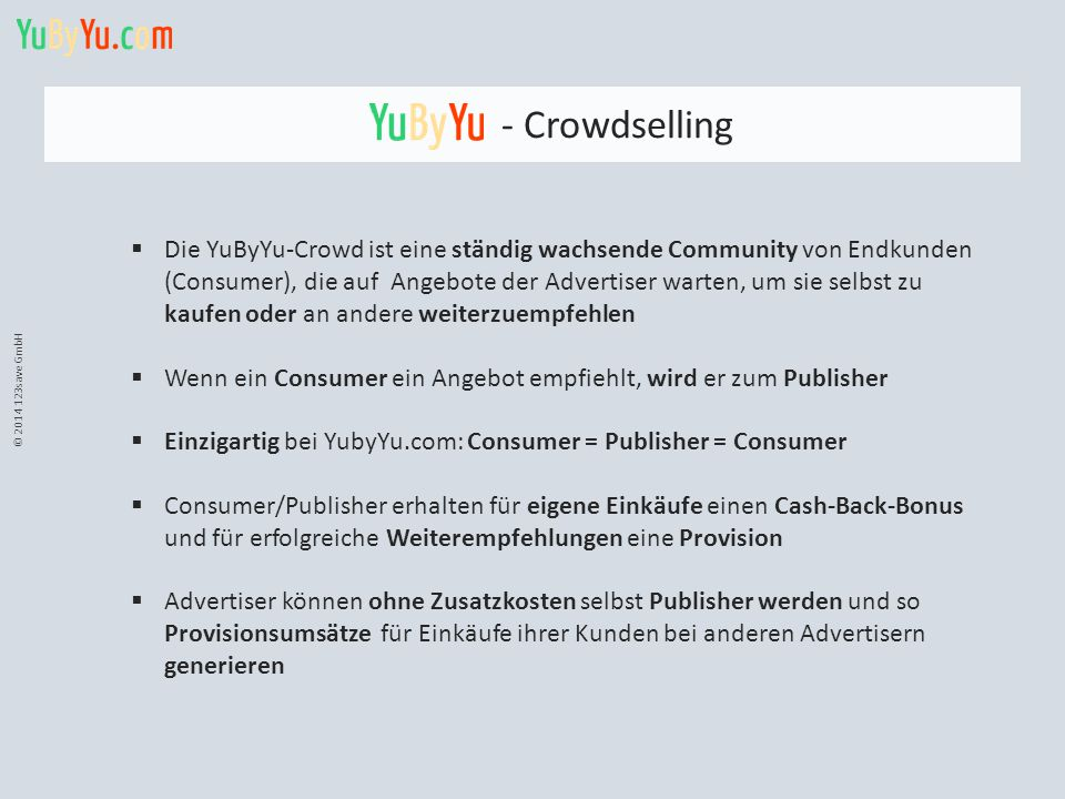 © 2014 123save GmbH - Crowdselling.