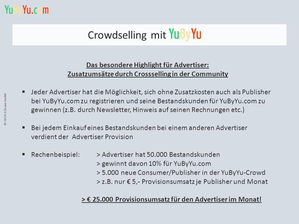 Crowdselling mit Das besondere Highlight für Advertiser: