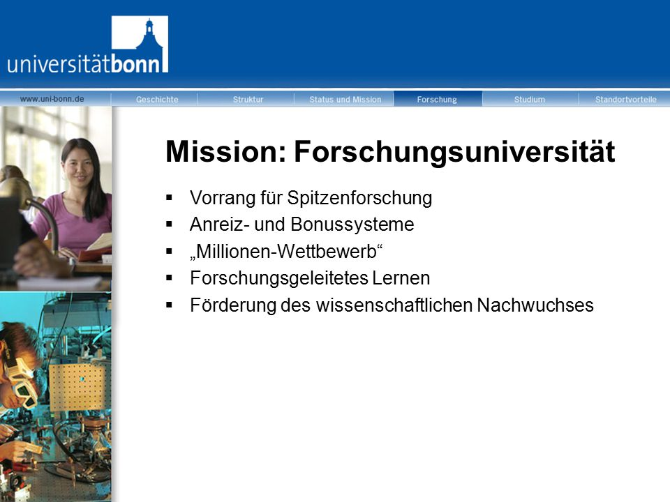 Mission: Forschungsuniversität