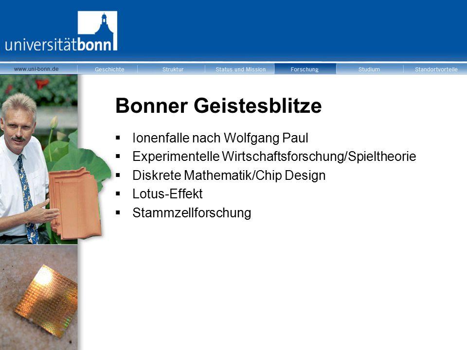 Bonner Geistesblitze Ionenfalle nach Wolfgang Paul