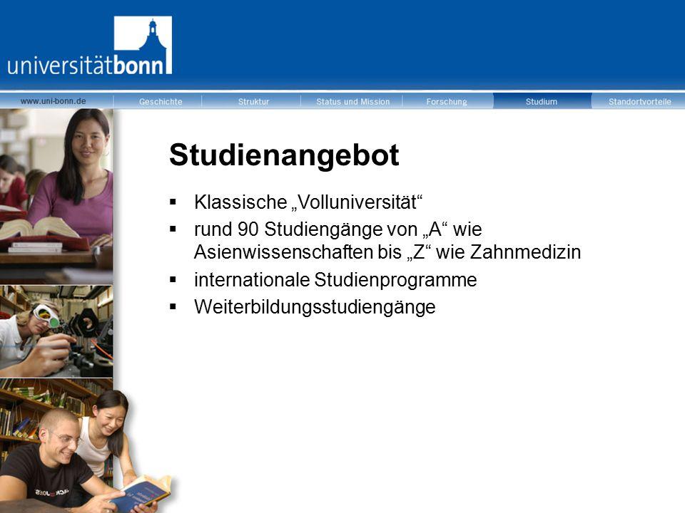 "Studienangebot Klassische ""Volluniversität"