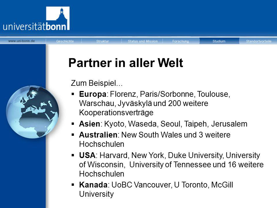 Partner in aller Welt Zum Beispiel...