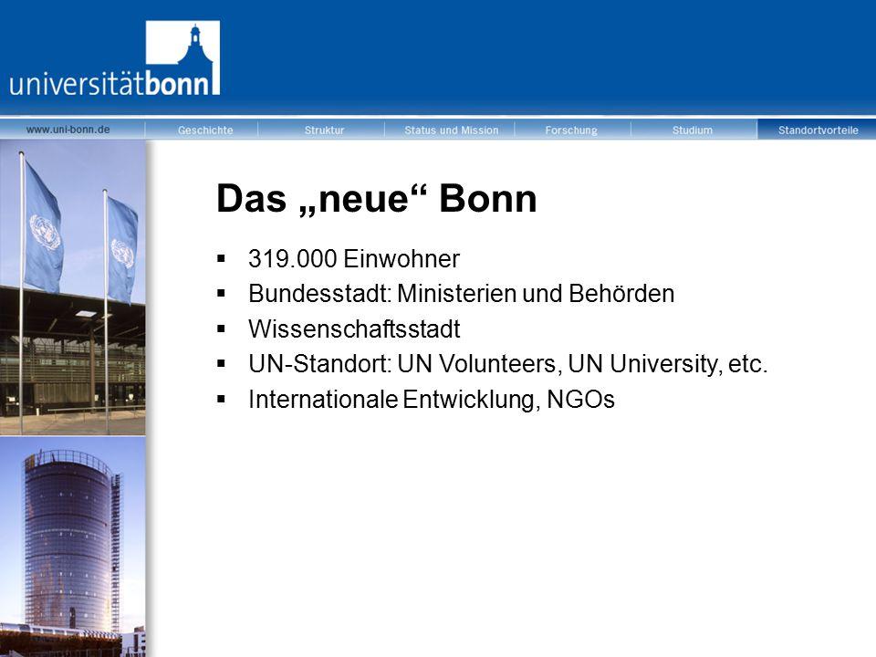 """Das """"neue Bonn 319.000 Einwohner"""