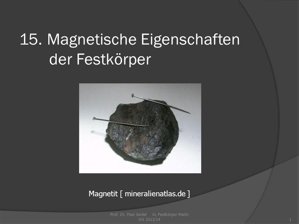 15. Magnetische Eigenschaften der Festkörper