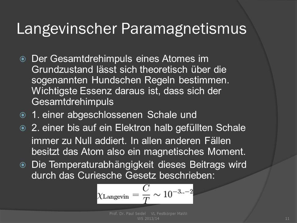 Langevinscher Paramagnetismus